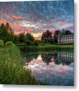 Castle And Pond Metal Print