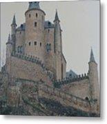 Castle At Segovia Metal Print