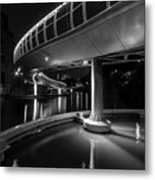 Castle Bridge B By Night Bristol England Metal Print