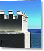 Castle By The Sea Metal Print