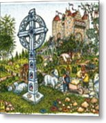 Castle Cross Metal Print