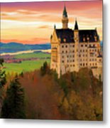 Castle Dawn Metal Print