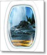 Castle Geyser Portholes Metal Print