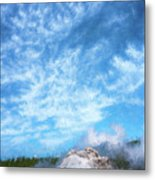 Castle Geyser Yellowstone Np Photo Painting_grk7577_05262018 Metal Print