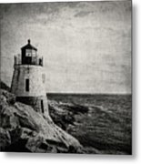 Castle Hill In Black And White Metal Print