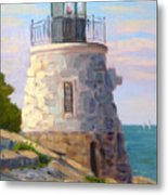 Castle Hill Light Newport Ri Metal Print
