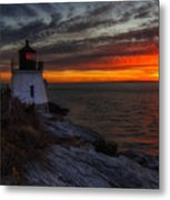 Castle Hill Lighthouse Sunset Metal Print