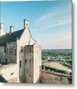 Castle In Chinon Metal Print