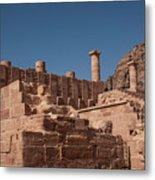 Castle In Petra Metal Print