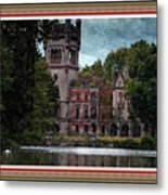 Castle Kapadia. L B With Decorative Ornate Printed Frame. Metal Print