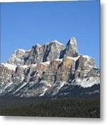 Castle Mountain Winter Metal Print