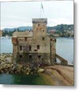 Castle Of Rapallo Metal Print