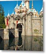 Castle Reflection Metal Print