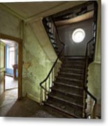 Castle Stairs - Abandoned Building Metal Print