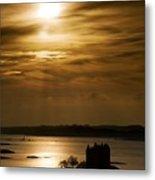 Castle Stalker At Sunset, Loch Laich Metal Print