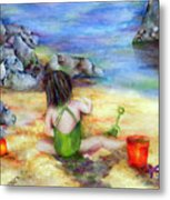 Castles In The Sand Metal Print