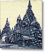 Castles On The Beach Metal Print