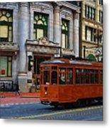 Castro Street Trolley Metal Print