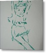 Casual Dance.water Color 1999 Metal Print