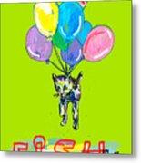 Cat And Fish Friend Metal Print
