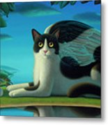 Cat And Mouse 2 Metal Print