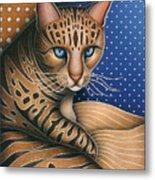 Cat Andrea Metal Print