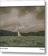 Cat Before The Storm Metal Print