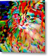 Cat By Fauvism Metal Print
