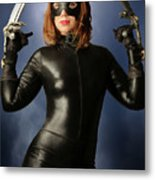 Cat Claws And Mask Metal Print
