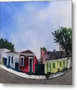 Cat Cottage Metal Print