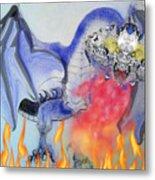 Cat Dragon Metal Print