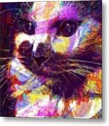 Cat Head Face Macro Close Up  Metal Print