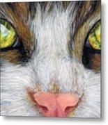 Cat In Pastel Metal Print