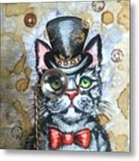 Cat In The Hat Metal Print
