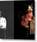 Cat - It's Our Birthday - 1914 - Side By Side Metal Print