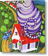 Cat On A Red Tin Roof Metal Print