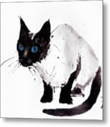 Cat Painting Metal Print