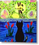 Cat Tv  Watching Bugs Metal Print