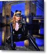Cat Woman In London Metal Print