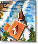 Catalina Cottage Sold Metal Print