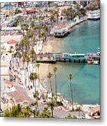Catalina Island Avalon Waterfront Aerial Photo Metal Print