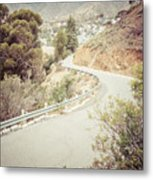 Catalina Island Mountain Road Picture Metal Print