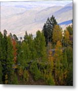 Catalina Mountains In The Fall Metal Print