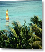 Catamaran On Tumon Bay Metal Print