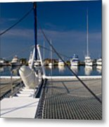 Catamaran Ready To Sail Metal Print