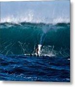 Catching A Big Wave, North Shore, Oahu Metal Print