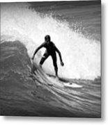 Catching A Wave Metal Print