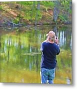 Catching Fish Metal Print