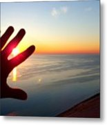 Catching The Sunset At Sleeping Bear Metal Print