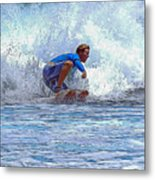 Catching The Wave Metal Print